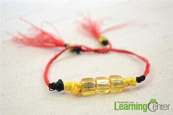 finished easy friendship bracelet