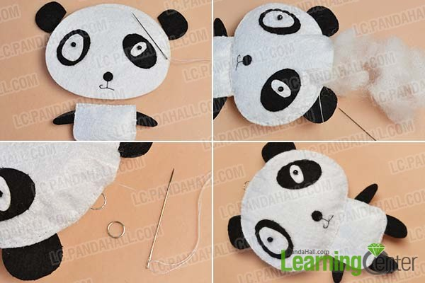 make the rest part of the felt panda