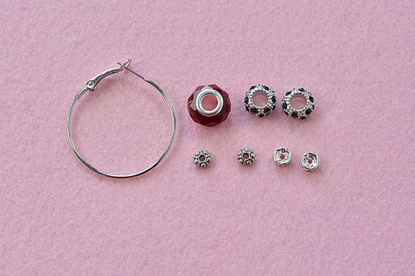 Supplies In Making The Gl And Rhinestone European Beads Pandora Earrings