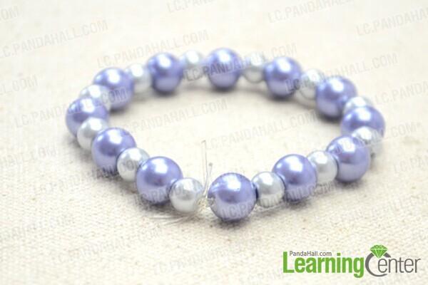 comment faire un bracelet lastique avec des perles et ruban. Black Bedroom Furniture Sets. Home Design Ideas