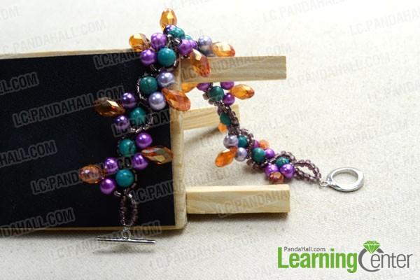 finished bohemian style bracelets