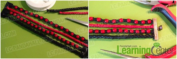 Step 3: Finish the multi strand bracelet