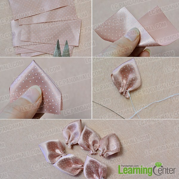 make the first part of the pink ribbon headband