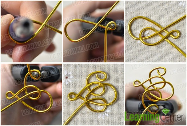 make the wire wrapped embellishment