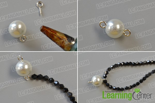 make the first part of the chic white pearl bead bracelet