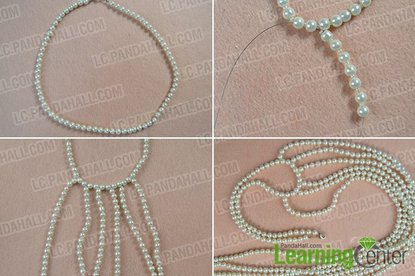How to Make Fashion White Pearl Body Necklace Jewelry 3
