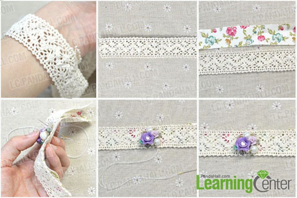 Diy Craft Lace Bracelet With Rose Clay Beads Pandahall Com