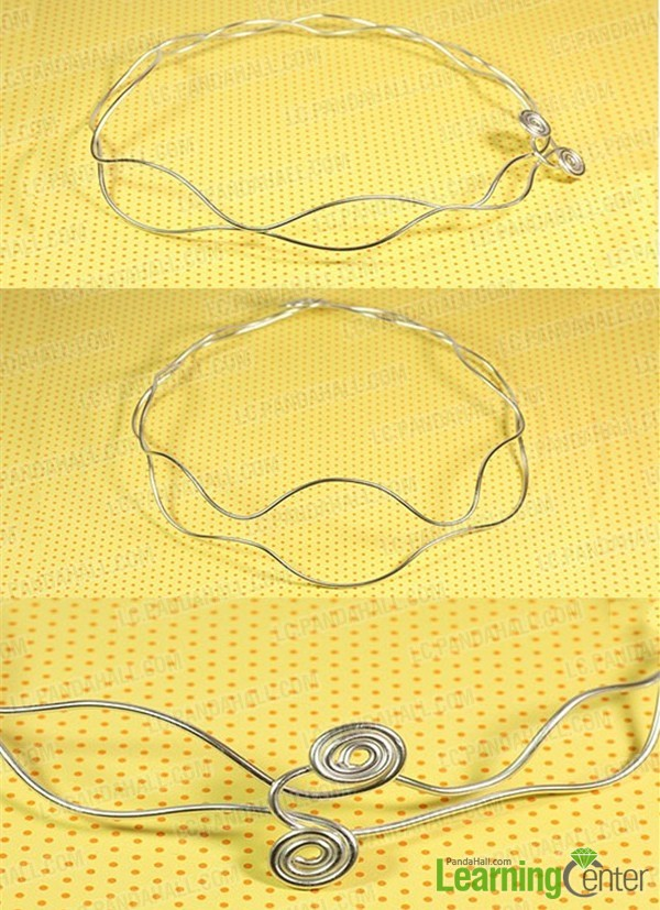bend the wire into a double wavy shape