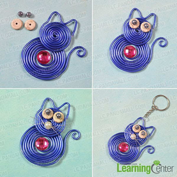 Decorate the wire wrapped cat
