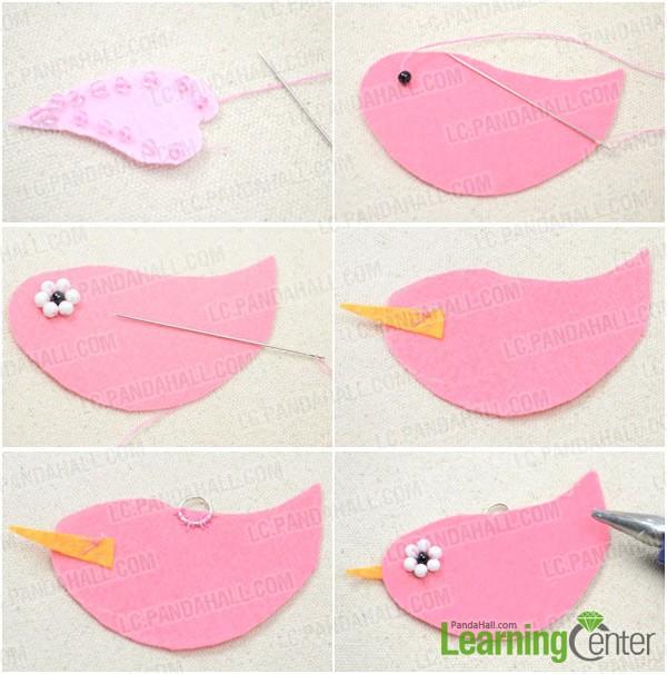 Step 2: Make felt bird decoration