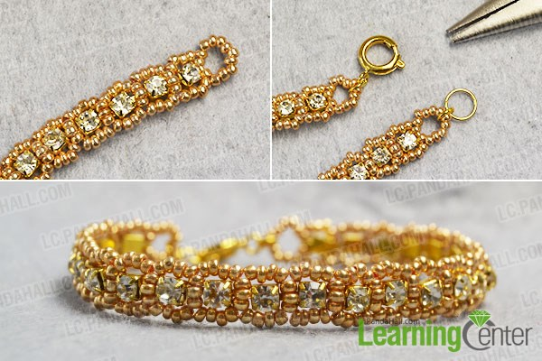 finish this bling rhinestone bracelet