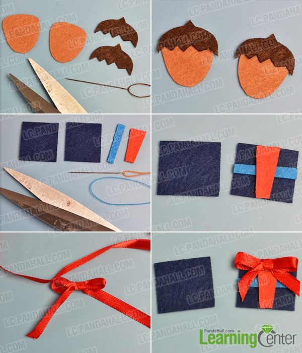 Make boy head shape and gift boxes