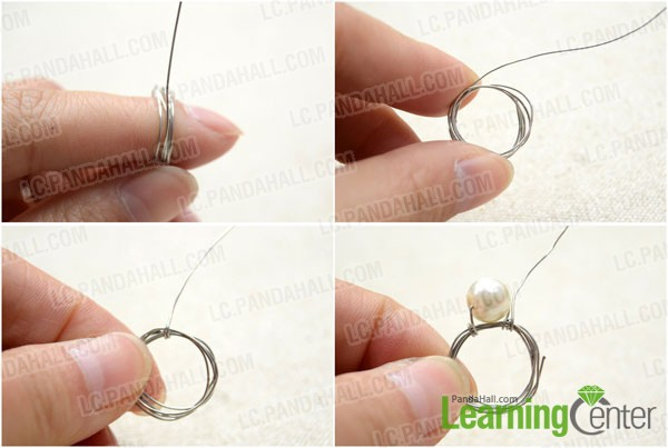 Make a wire wrap against finger