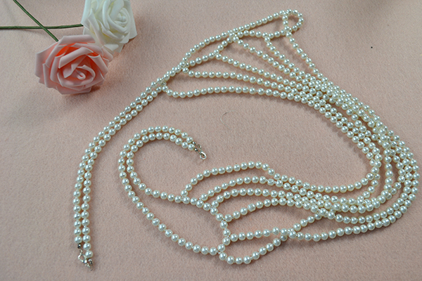 How to Make Fashion White Pearl Body Necklace Jewelry final