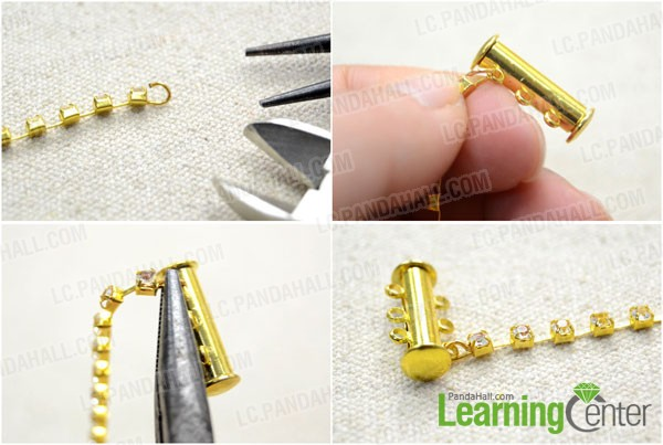 loop the pin and attach the clasp