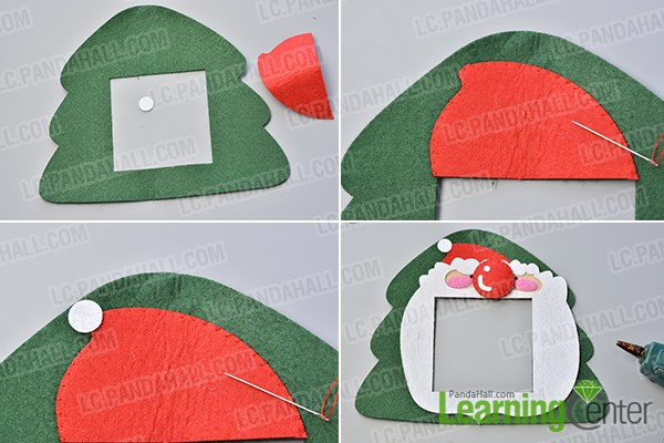 Make the third part of the easy felt Christmas hanging decoration