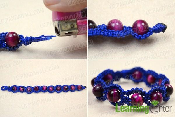 making a shamballa bracelet