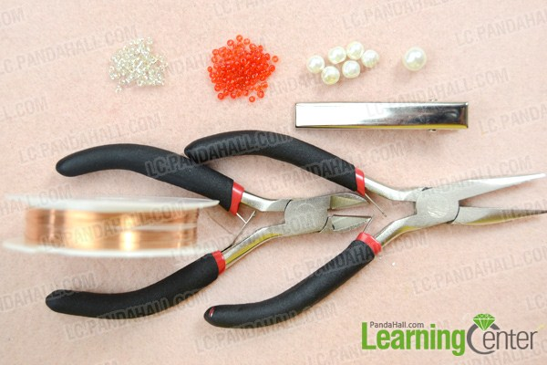 Materials on how to make bridal hair accessories