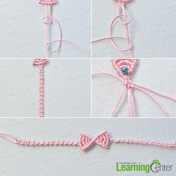 make the rest part of the pink butterfly bow friendship bracelet