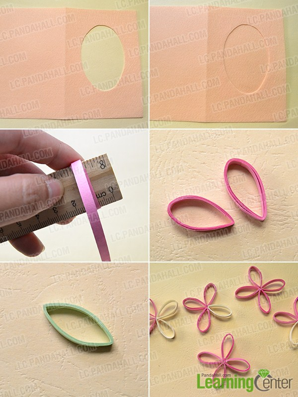 make the first part of the tree quilling paper greeting card