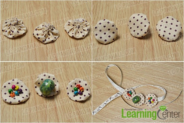sew beads and ribbon