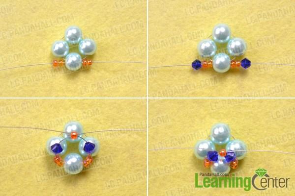 Make the beaded dangle for fashion pearl earrings