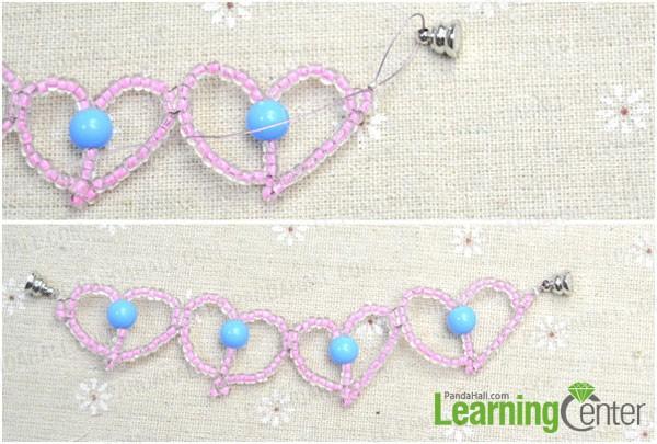 make closure for the beaded heart bracelet