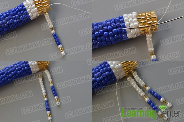 make the rest part of the seed bead stitch pendant necklace