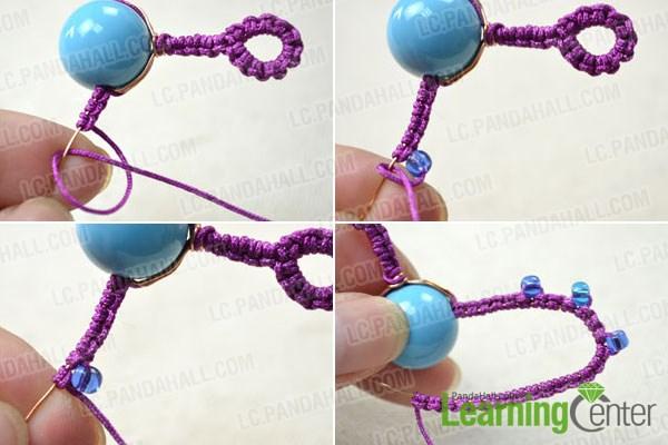 Make half wings of butterfly for needle tatting earrings