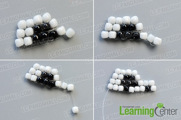 make the third part of the white and black bead skull earrings