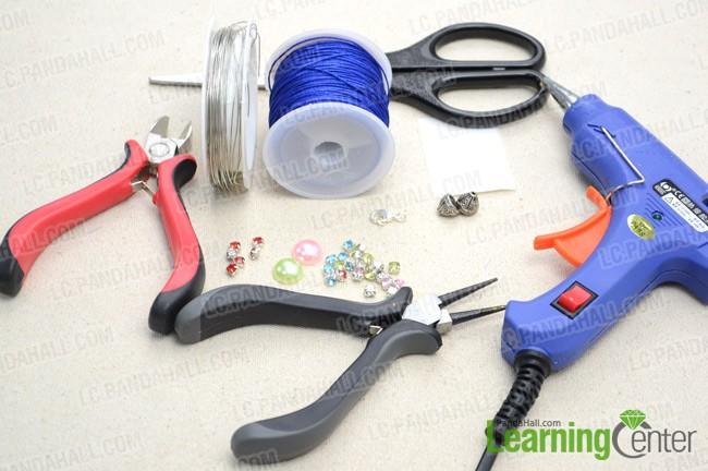 Supplies for DIY braided bracelet