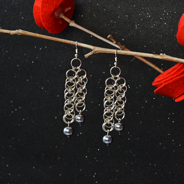 how to make dangle earrings with beads