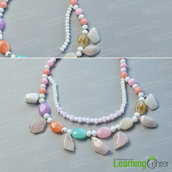 make the rest part of the gemstone beaded necklace