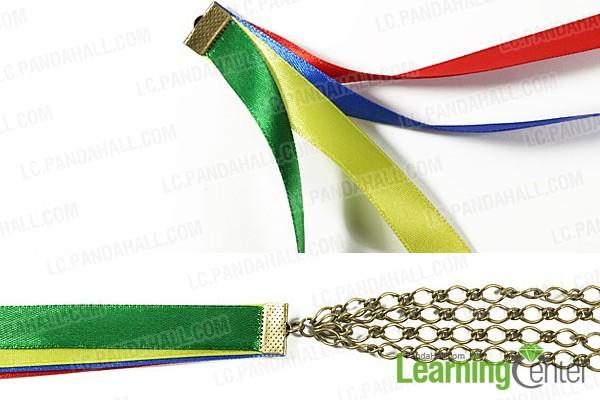prepare ribbon bracelet base