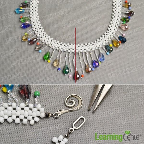 Finish the diy beaded tassel necklace