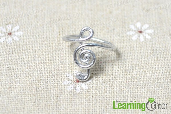 the finished treble clef ring