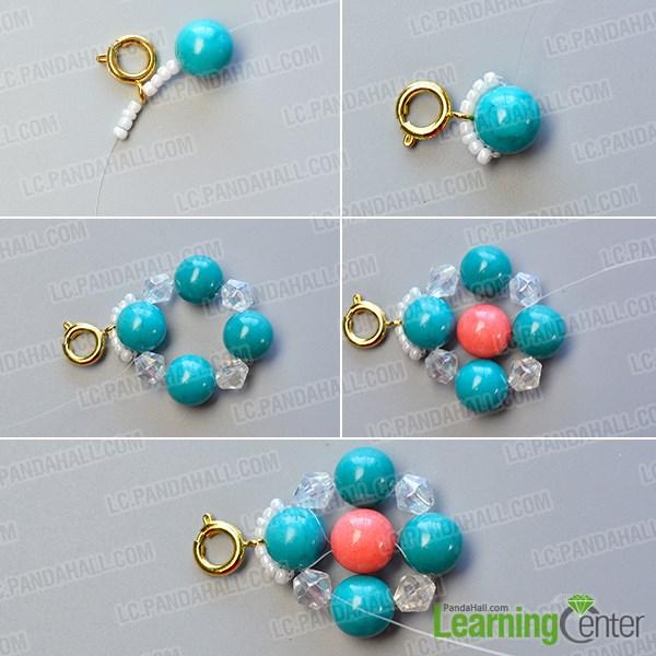 Make the basic turquoise bead pattern