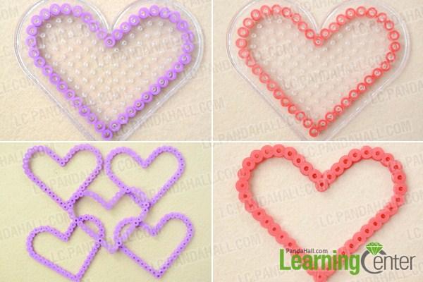 make basic perler bead box pattern