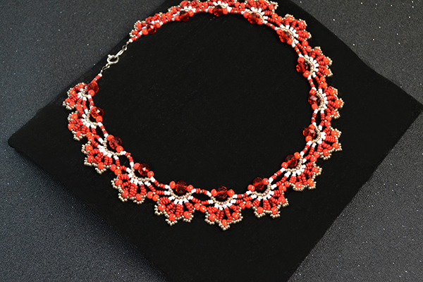 finished seed bead choker necklace