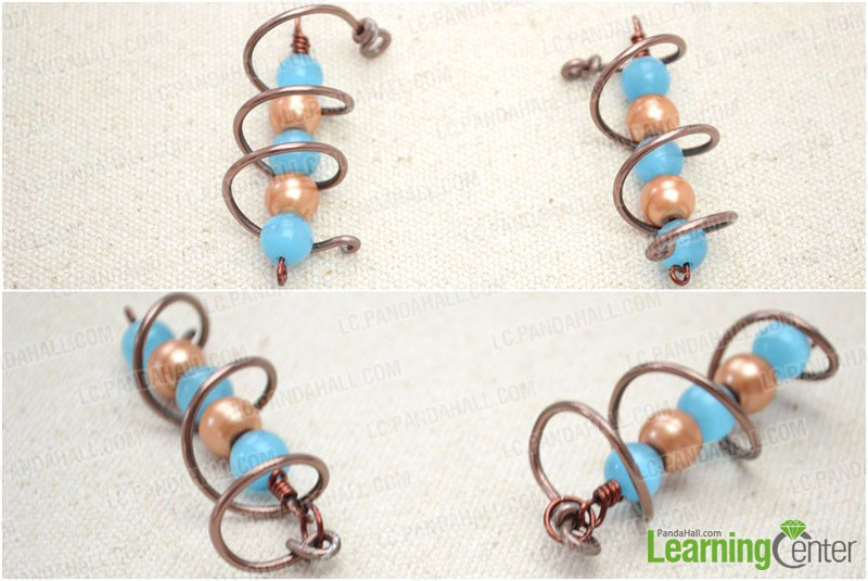 Step 3: Finish the earrings