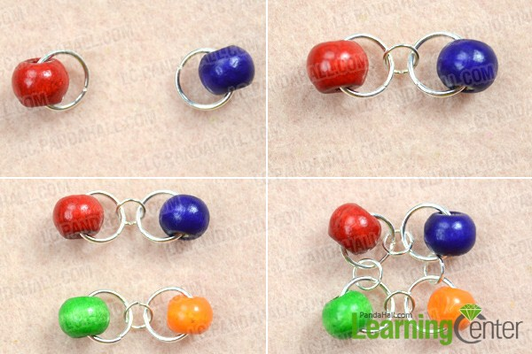 Instruction on making beaded chain mail jewelry