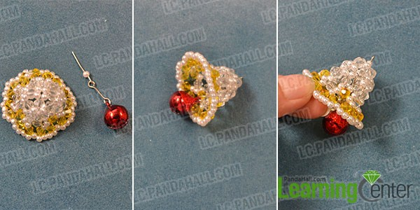 make the bottom part of the beaded Christmas bell craft