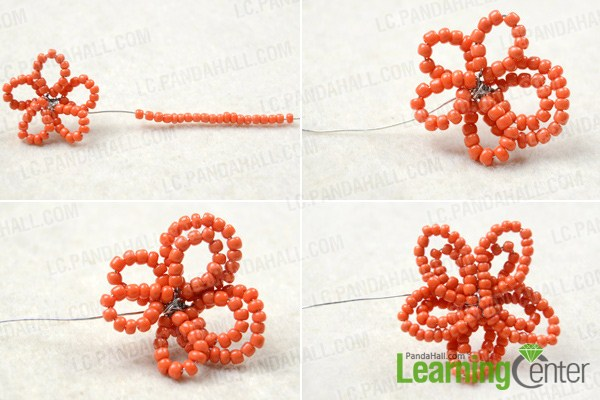 tutorial on making flower hair clips