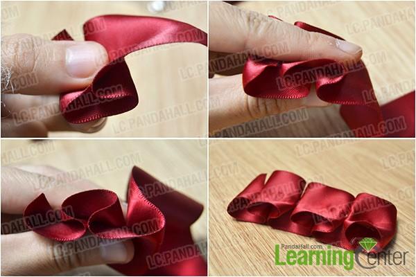make a folded ribbon