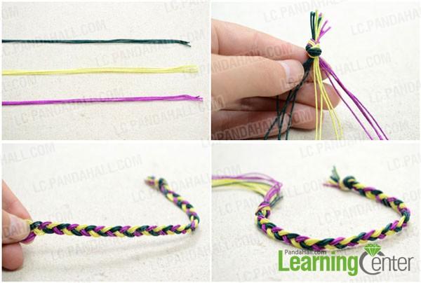 Make the vivid 3-strand braid
