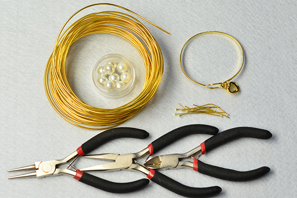 Supplies needed in DIY these handmade bangle bracelets: