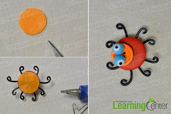 make legs for the orange colored spider