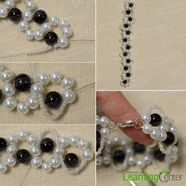 Add seed bead wave patterns