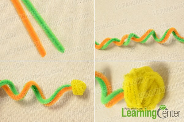 make the main part of the Halloween chenille cobra craft