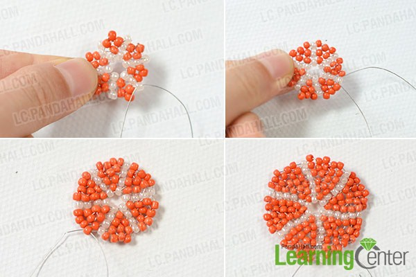 make the rest layers of the bead pattern2
